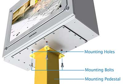 Panel Enclosure Workstation Pedestal Mount