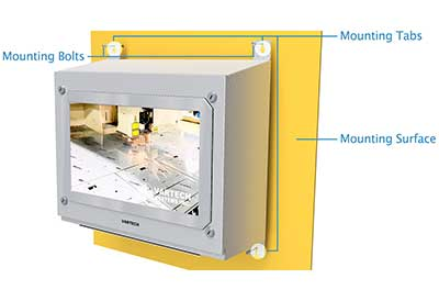 Panel Enclosure Workstation Mounting Tabs