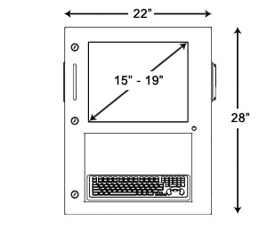 HTE Recessed Kiosk Mechanical Example